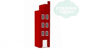 Шкаф-домик Амстердам концевой, красный чили