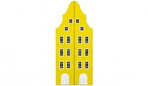 Шкаф-домик двустворчатый Амстердам 1, желтый