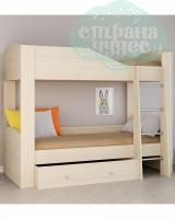 Двухъярусная кровать Астра 2, дуб молочный