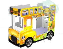 """Кровать - Автобус """"Кроватки-Машинки"""" желтый"""