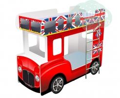 """Кровать - Автобус """"Кроватки-Машинки"""" Красный"""