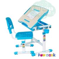 Комплект парта и стул-трансформеры FunDesk Bambino голубой