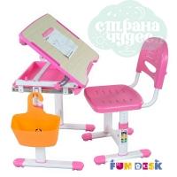 Комплект парта и стул-трансформеры FunDesk Bambino розовый