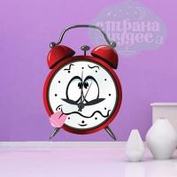 Оригинальные часы с виниловой наклейкой: Будильник-дразнилка