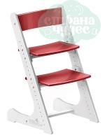 Регулируемый универсальный стул Конёк Горбунёк, бело-красный