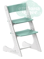 Регулируемый универсальный стул Конёк Горбунёк, бело-мятный