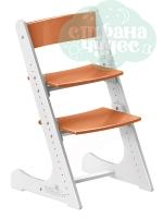 Регулируемый универсальный стул Конёк Горбунёк, бело-оранжевый