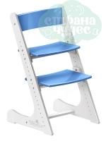 Регулируемый универсальный стул Конёк Горбунёк, бело-синий