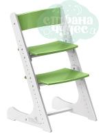 Регулируемый универсальный стул Конёк Горбунёк, бело-зеленый