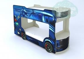 Кровать-автобус Vivera синий