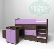 Кровать-чердак Ярофф Малыш, бодего-фиолетовый