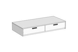 Кровать Klюkva Junior BSS01 с 2 ящиками