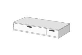 Кровать Klюkva Junior BSS02 с 2 ящиками