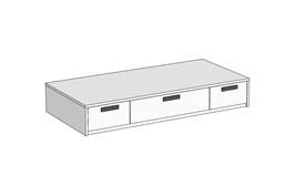 Кровать Klюkva Junior BSS03 с 3 ящиками