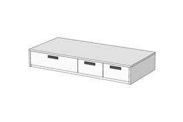 Кровать Klюkva Junior BSS04 с 3 ящиками