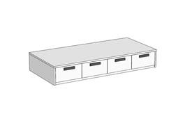 Кровать Klюkva Junior BSS05 с 4 ящиками
