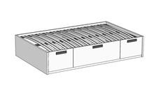 Кровать Klюkva Junior BT02 с 3 ящиками с подъемным механизмом