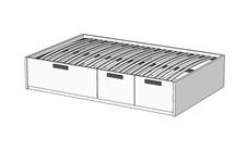 Кровать Klюkva Junior BT03 с 3 ящиками с подъемным механизмом