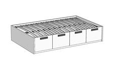 Кровать Klюkva Junior BT04 с 4 ящиками с подъемным механизмом
