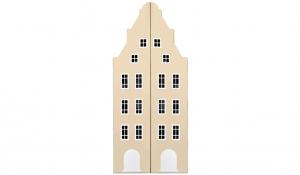 Шкаф-домик двустворчатый Амстердам 1, кремовый