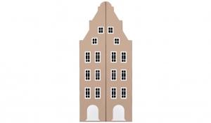 Шкаф-домик двустворчатый Амстердам 1, имбирь