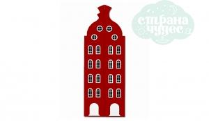 Шкаф-домик двустворчатый Амстердам 2XL, красный чили