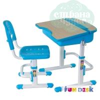 Комплект парта и стул-трансформеры FunDesk Capri голубой