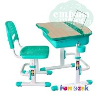 Комплект парта и стул-трансформеры FunDesk Capri зеленый