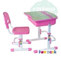 Комплект парта и стул-трансформеры FunDesk Capri розовый