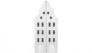 Шкаф-домик двустворчатый Амстердам 1, белый