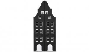 Шкаф-домик двустворчатый Амстердам 1, черный