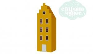 Шкаф-домик Амстердам 1, желтый