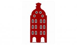 Шкаф-домик двустворчатый Амстердам 2, красный чили