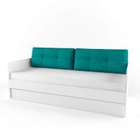 Подушка диванная 38 Попугаев, бирюза