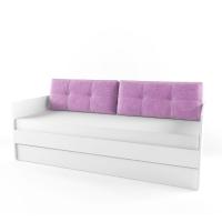 Подушка диванная 38 Попугаев, фиолетовая