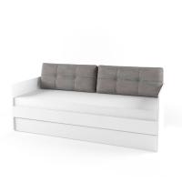 Подушка диванная 38 Попугаев, серая