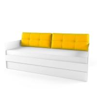 Подушка диванная 38 Попугаев, желтая