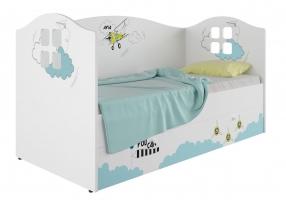 Кровать-домик детская Klюkva Baby KD, 160х80 см, Авиа