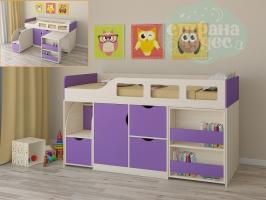 Кровать-чердак Астра 8, фиолетовый
