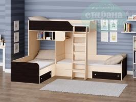 Двухъярусная кровать Трио, венге
