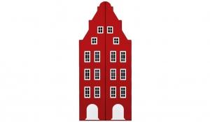 Шкаф-домик двустворчатый Амстердам 1, красный чили