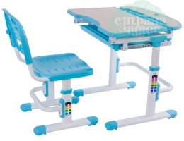 Набор стол + стульчик Mealux EVO-04 голубой