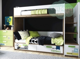 Кровать двухъярусная Klюkva Junior BR 01, Football