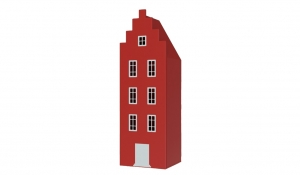 Шкаф-домик Амстердам 1, красный чили