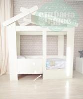 Кровать-домик Теремок, белая