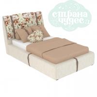 Кровать Elegant Unique 120 кремовая с ремнями