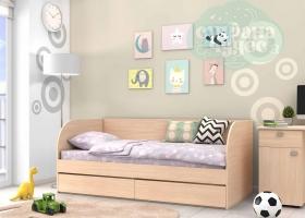 Кровать детская GK 7, дуб молочный