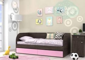 Кровать детская GK 7, венге-розовая
