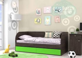 Кровать детская GK 7, венге-зеленый