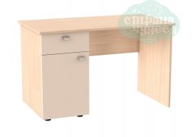Стол письменный GK 120 см, дуб молочный-бежевый